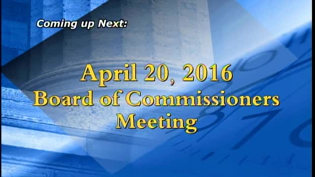 April 20, 2016  Board of Commissioners Meeting