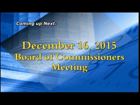 December 16, 2015 Board of Commissioners Meeting
