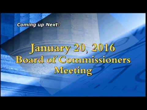 January 20, 2016 Board of Commissioners Meeting