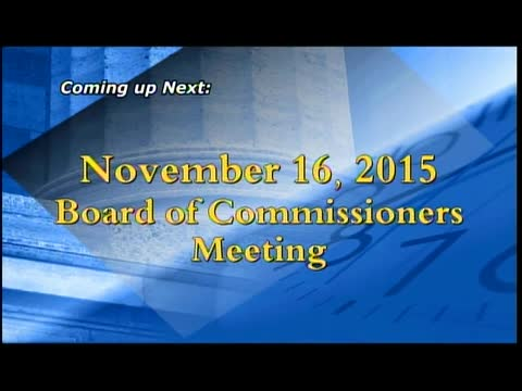 November 16, 2015 Board of Commissioners meeting