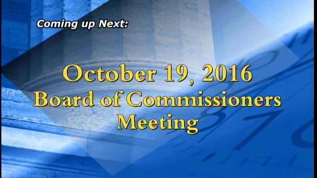 October 19, 2016 Board of Commissioners Meeting