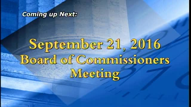 September 21, 2016 Board of Commissioners Meeting